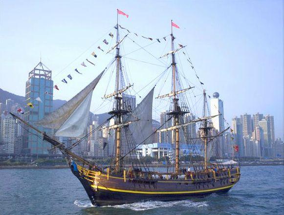 欧洲高桅帆船图片