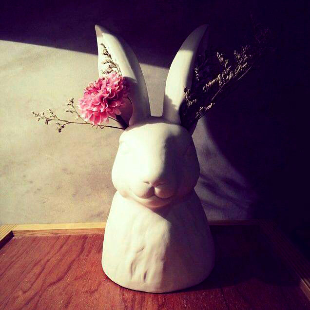 volume one rabbit vase re