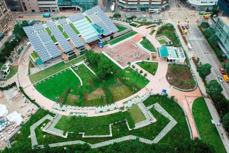校园游憩绿地设计手绘平面图